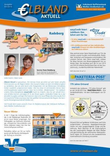 Kundenzeitschrift Ausgabe 03/2013 Region Großenhain