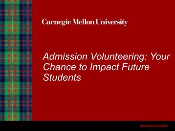 Admission Volunteering - Alumni Association