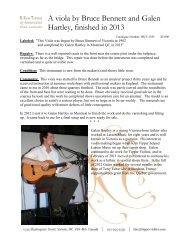 information sheet (PDF) - R. Kim Tipper & Associates Fine Violins