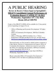 A PUBLIC HEARING - City of Springfield