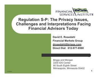 regulation sp erisa compliance: overview