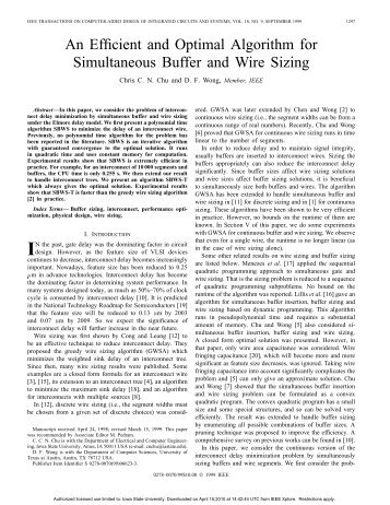 An efficient and optimal algorithm for simultaneous buffer and wire ...