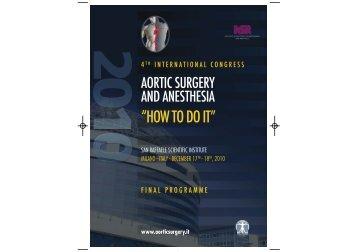 Final programme 2010 - 5th international congress aortic surgery ...