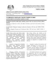 Tambahan kepada Notis NMPM 33/2001 - Jabatan Laut Malaysia