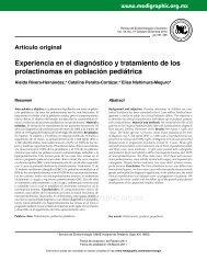 Experiencia en el diagnóstico y tratamiento de los prolactinomas en ...