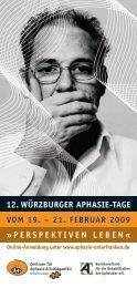 12. Würzburger AphAsie-TAge vom 19. – 21. FebruAr 2009 ...