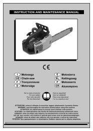 Motosega I Chain-saw GB Tronçonneuse F Motorsäge D Motosierra ...
