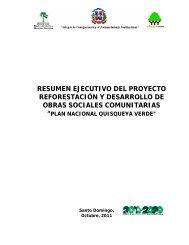 Resumen Ejecutivo Plan Quisqueya Verde SNIP 4203