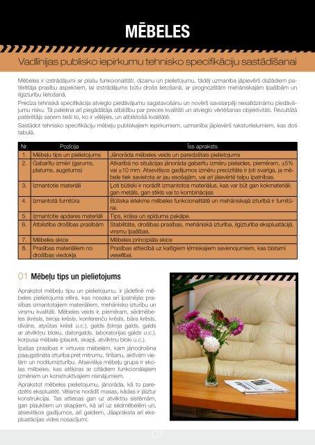 Mēbeles: Vadlīnijas publisko iepirkumu tehnisko specifikāciju ...