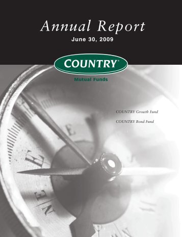 Annual Report June 30, 2009 - COUNTRY Financial