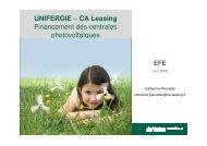 UNIFERGIE – CA Leasing Financement des centrales ... - Efe