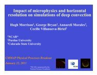 Sensitivity of deep convection to microphysics and ... - cmmap