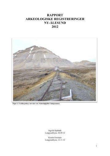 Rapport Ny-Ålesund 2012 - Sysselmannen
