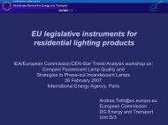 EU Legislative Instruments for Residential Lighting Products - Enerlin