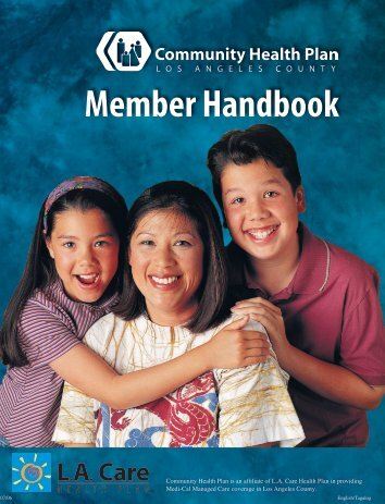 Member Handbook - Los Angeles County Department of Health ...