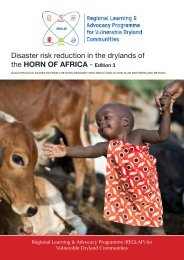 Disaster risk reduction in the drylands of the HORN OF ... - ReliefWeb