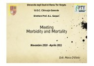 Morbidity e Mortality - Cattedra Chirurgia Tor Vergata