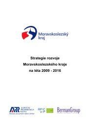 Strategie rozvoje Moravskoslezského kraje na léta ... - Veřejná správa