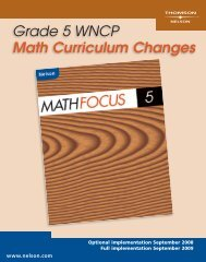 Grade 5 WNCP Math Curriculum Changes
