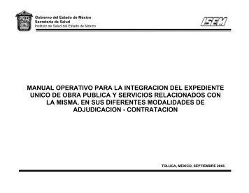 manual operativo para la integracion del expediente unico de obra ...