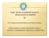 CASE STUDY IN SERVICE QUALITY REGULATION IN NIGERIA By