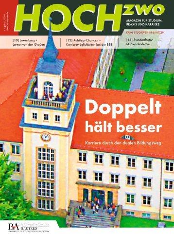HOCHzwo - Ausgabe 1/2010 - der Studienakademie Bautzen
