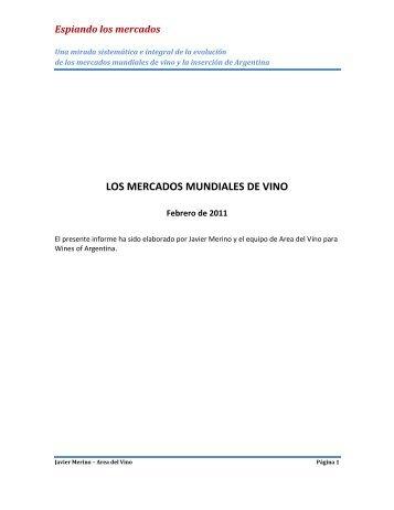 LOS MERCADOS MUNDIALES DE VINO - Wines Of Argentina