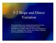 Algebra 5-2 Slope and Direct Variation - Mona Shores Blogs