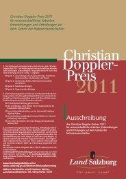 Ausschreibung - Biophysics Austria