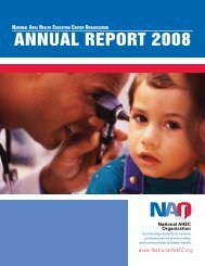 AnnuAl RepoRt 2008 - National AHEC Organization