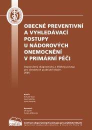 obecné preventivní a vyhledávací postupy u nádorových ...