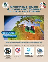 Greenfield Trade & Investment Mission to Libya and Tunisia