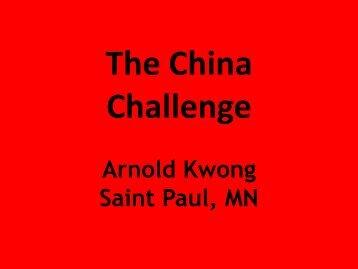 The China Challenge - Minnesota Futurists