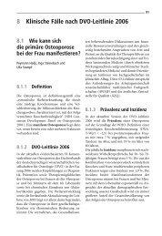 8 Klinische Fälle nach DVO-Leitlinie 2006