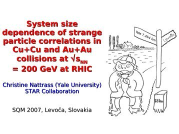 System size dependence of strange particle ... - RHIG AT YALE
