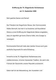 Eröffnung der 75. Klagenfurter Herbstmesse am ... - Bundespräsident