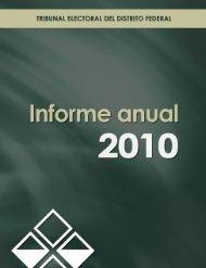 Informe Anual 2010 - Transparencia - Tribunal Electoral del Distrito ...