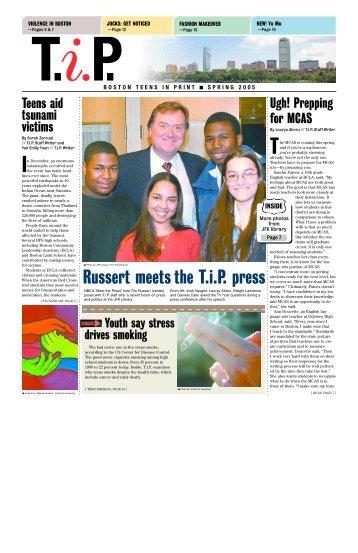 Russert meets the T.i.P. press - Teens in Print