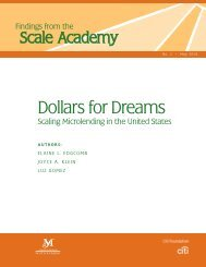 Dollars for Dreams: Scaling Microlending in the United States - Field