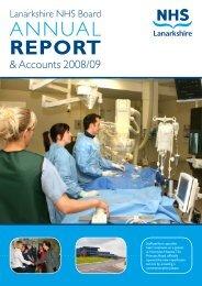 Annual Report 2008 - 2009 - NHS Lanarkshire