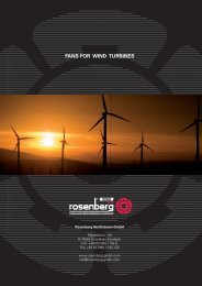 Fans for wind turbines