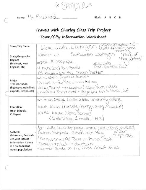 Sample Twc Class Trip Essay And Wspdf  Lurgiopodnorth