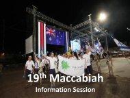 Maccabiah Swimming Slide Presentation - Maccabi Australia