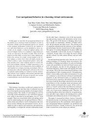 4) User navigational behavior in e-learning virtual environments
