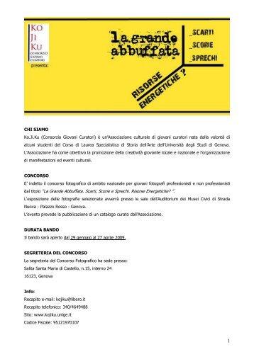 BANDO_MOSTRA 2009 - Diras - Università degli Studi di Genova