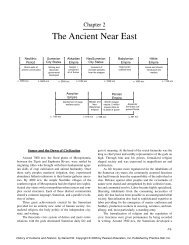 The Ancient Near East - Pearson Learning Solutions