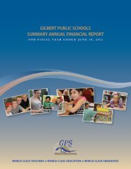 The 2012 Summary Annual Financial Report - Gilbert Public Schools
