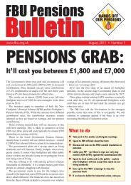 Pensions Bulletin Number 1 - Fire Brigades Union