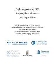Rapporteringshefte 2008 - Helse Bergen