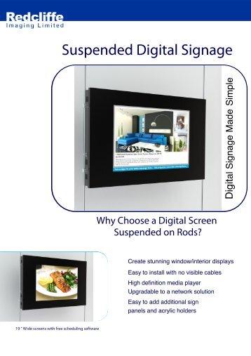 Suspended Digital Signage - Redcliffe